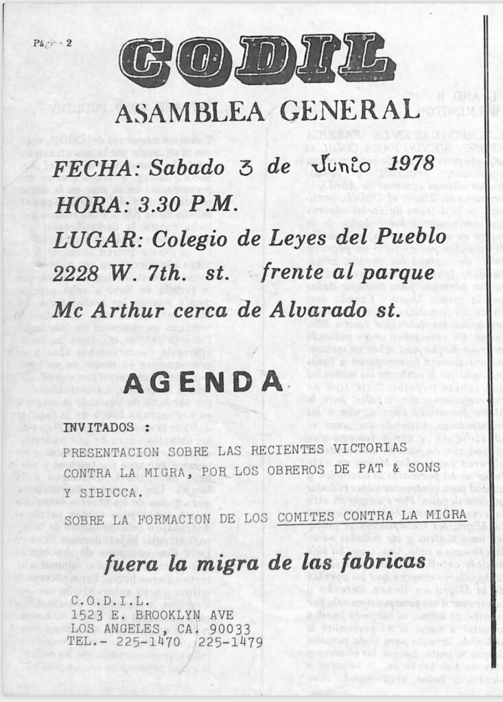CODIL meeting announcement June 1978